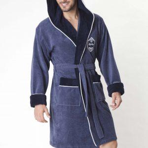 Мужской халат Nusa ns 7160-1 синий m013612