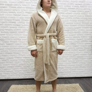 купить Мужской халат Nusa ns 7210 бежевый 1 m013582