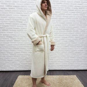купить Мужской халат Nusa ns 7210 крем 1 m013581