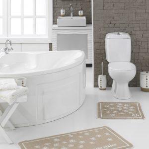 Набор ковриков для ванной Marie Claire – Brezze kahve 57×57|57×100