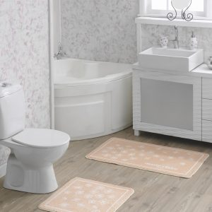 Набор ковриков для ванной Marie Claire – Brezze somon 57×57|57×100