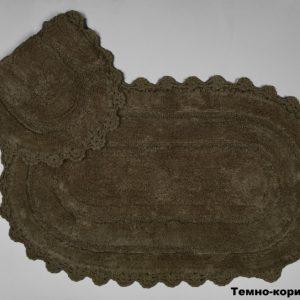 купить Набор ковриков Arya 60x100 с гипюром Afro Коричневый