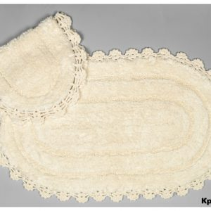 купить Набор ковриков Arya 60x100 с гипюром Afro Кремовый
