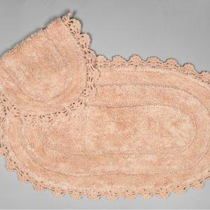 купить Набор ковриков Arya 60x100 с гипюром Afro Розовый