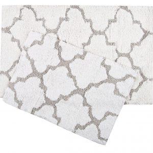 купить Набор ковриков Irya - Bali beyaz белый 50x80|45x60