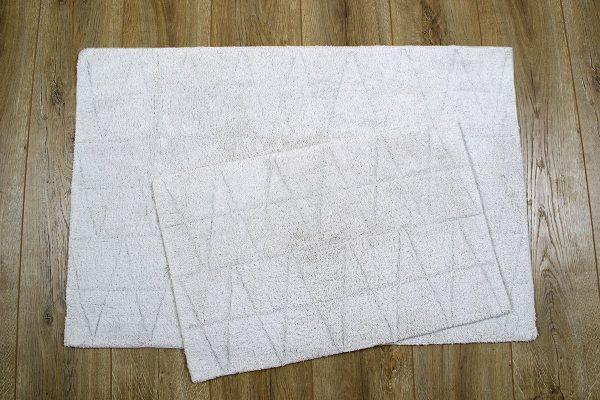 купить Набор ковриков Irya - Kinsey silver (gumus) серый 60x90|40x60