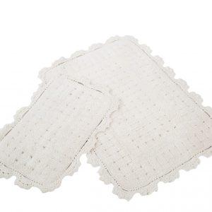 Набор ковриков Irya – Mina ekru кремовый 60×90|40×60