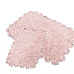 Набор ковриков Irya – Mina pembe розовый 60×90|40×60