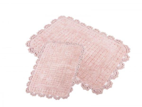 купить Набор ковриков Irya - Mina pembe розовый 60x90|40x60