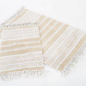 Набор ковриков Irya – Relax bej бежевый 60×90|40×60