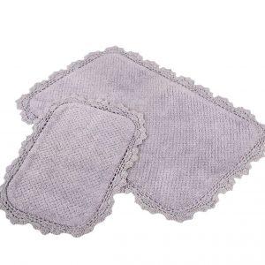 Набор ковриков Irya – Serra mor сиреневый 60×90|40×60