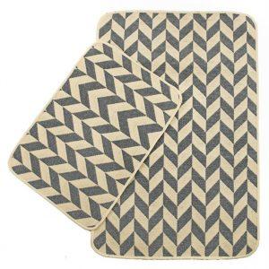 Набор ковриков Solo Krem Gri Zigzag 40×60|60×90