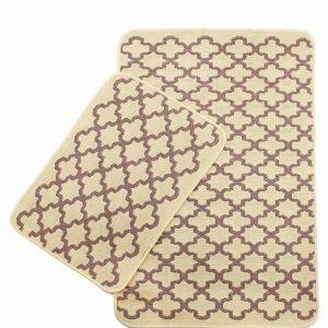 Набор ковриков Solo Krem Pembe Geometri 40×60|60×90