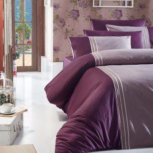 Однотонное постельное белье First Сhoice Dlx 02- Craze-Leylak 200×220
