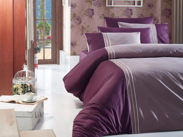 купить Однотонное постельное белье First Сhoice Dlx 02- Craze-Leylak 200x220