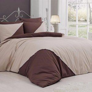 купить Однотонное постельное белье First Сhoice Jenna Ekru 200x220