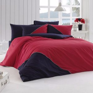 Однотонное постельное белье First Сhoice Jenna Kirmizi 200×220