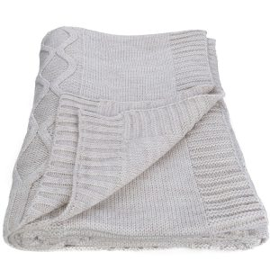 купить Плед вязанный SoundSleep Carmel светло-серый 140х180