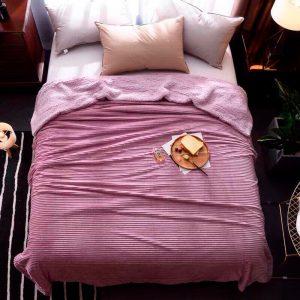 купить Плед меховой Love You розовый 200x220