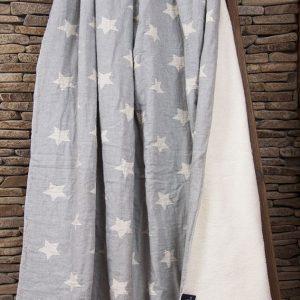 Плед микроплюш Barine – Star Throw grey 130×170