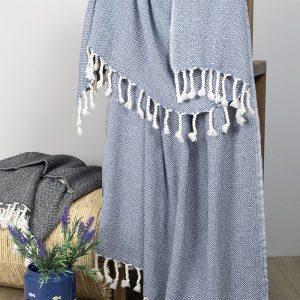 купить Плед-накидка Barine - Wool Basket indigo 120x175