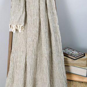 Плед-накидка Barine – Wrinclet natural 160×220