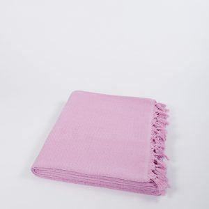 купить Плед хлопковый U.S.Polo Assn - Kalispell розовый 160x230