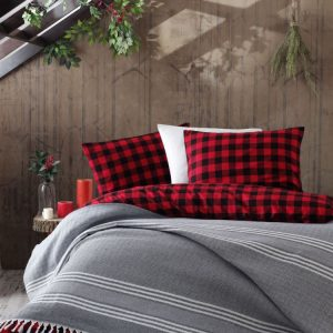 Плед Eponj Home – Anna Balik Sirti siyah-gri 220×240