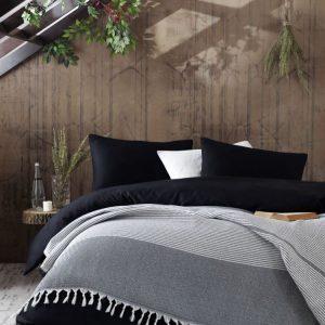 Плед Eponj Home – Anna Elmas siyah 220×240
