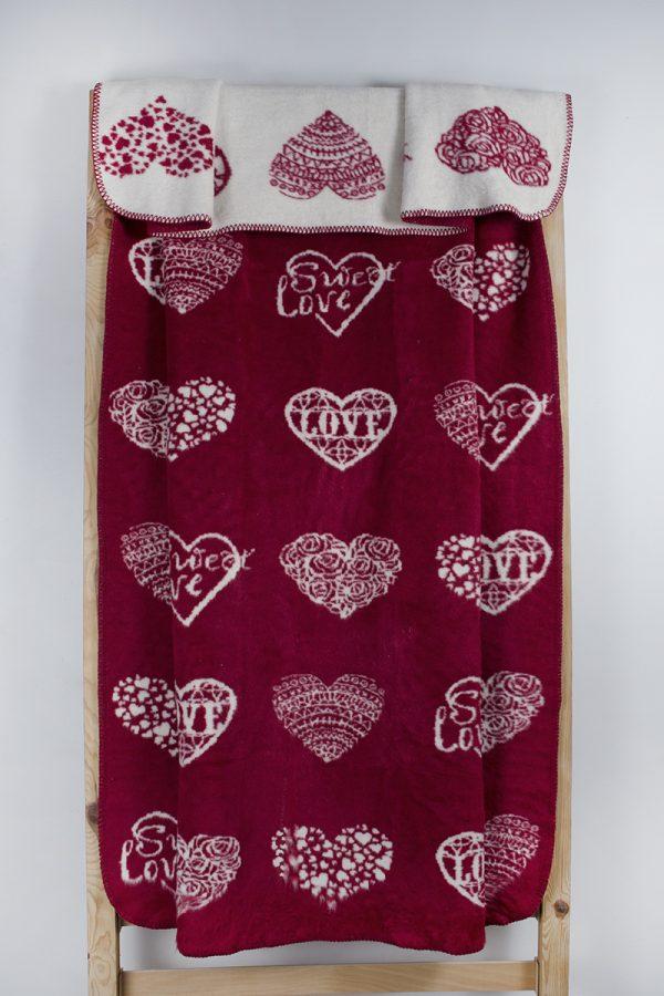 купить Плед Lotus Mono Sweet Love красный 135x175