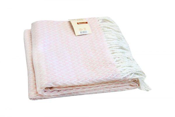 купить Плед Vladi Валенсия-Антонио розовый 140x200