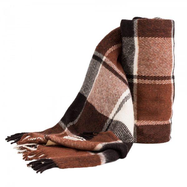 купить Плед Vladi Эльф темно-коричневый 140x200