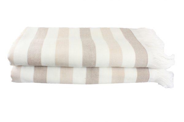 купить Пляжное полотенце STRIPE 70x140см бежевое