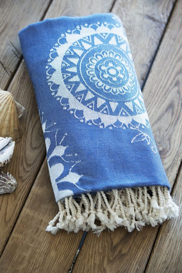 Пляжное полотенце SoundSleep Goa blue 100×180