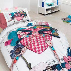 купить Подростковое постельное белье Сатин 3D First Сhoice Lovable 160x220