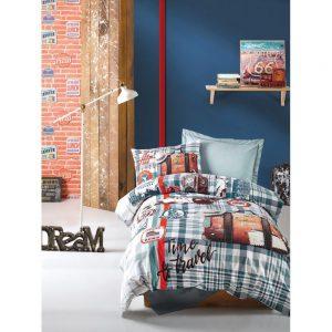 купить Подростковое постельное белье Cotton Box AIR TRAVEL PETROL 160x220