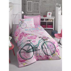 купить Подростковое постельное белье Cotton Box BIKE PEMBE 160x220