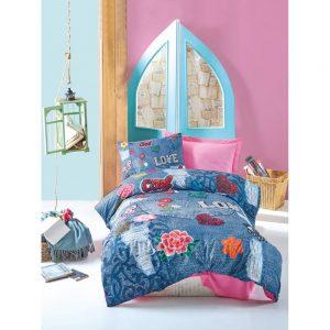 купить Подростковое постельное белье Cotton Box KELLY PEMBE 160x220