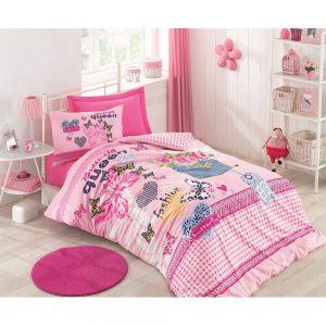 купить Подростковое постельное белье Cotton Box QUEEN PEMBE 160x220