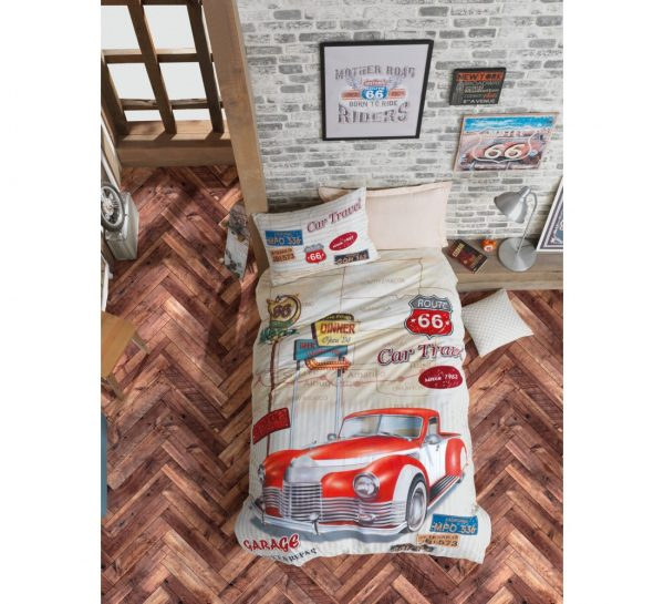 купить Подростковое постельное белье Cotton Box Route Bej 160x220