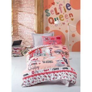 купить Подростковое постельное белье Cotton Box Selfie Kirmizi 160x220