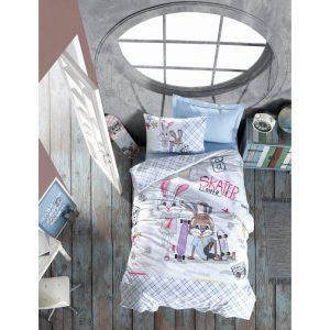 купить Подростковое постельное белье Cotton Box Skate Mavi 160x220