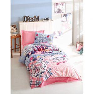 купить Подростковое постельное белье Cotton Box Superstar Pembe 160x220