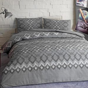 Подростковое постельное белье TAC Ranforce Teen – Juno gri v01 серый 160×220