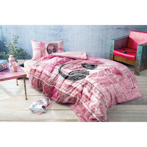 купить Подростковое постельное белье TAC Ranforce Teen - Listen розовый 160x220