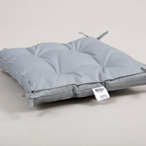 купить Подушка на стул Lotus Optima с завязками серый 40x40+5