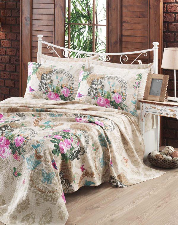 купить Покрывало пике Eponj Home - Angel bej вафельное 200x235