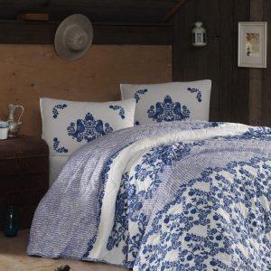 Покрывало стеганное с наволочками Eponj Home – Hunkar mavi 200×220