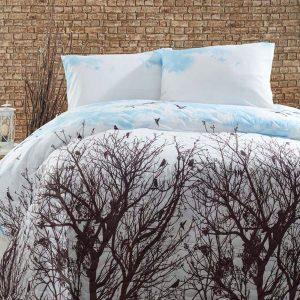 Покрывало стеганное с наволочками Eponj Home – Peace mavi 200×220