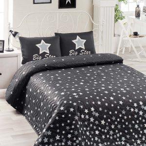 Покрывало стеганное с наволочками Eponj Home – WhiteStar siyah 200×220